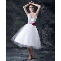 Buy cheap Graceful Deep v neck Princess party wear dresses , tee length from wholesalers