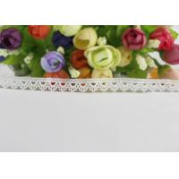 Buy cheap Polyester Water Soluble Lace Ribbon Trim Scalloped Edging For Interior Decoration / Garments from wholesalers