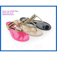 Buy cheap Fashion cheap fashion summer slippers sale for ladies jelly flat heel slippers ASM-851 from wholesalers