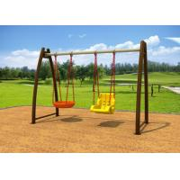 Buy cheap No Paint Stripping Baby Swing Sets Outdoor Play Swing Set With Cradle KP-G008 product