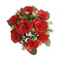 Buy cheap Most Popular Artificial Real Touch Wedding Bouquet Flower, Red Rose from wholesalers