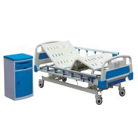 China Stainless Steel Hospital Patient Bed Manual Hospital Bed With Aluminum Side Rail on sale