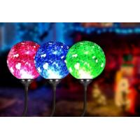 Buy cheap 4500K - 5500K Solar Ball Lights / Solar Powered Crackle Glass Globe Lights from wholesalers