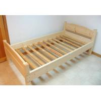 Customized Kids Pine Light Wood Bed Frame , Boys Single Size Low Wooden Bed Frame