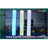 Buy cheap 3m Tall Nylon Cloth Inflatable Lighting Decoration Pillar Shape For Advertising from wholesalers