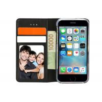 Buy cheap Black Leather Flip Case With Three Card Slots / Well Made Leather Folio Phone Case from wholesalers