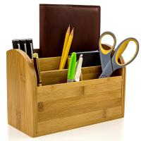 Buy cheap Desk Organizer Caddy for Office Supplies Pen Holder & Desk AccessoriesBamboo Office Supplies from wholesalers