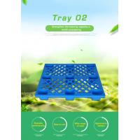 Buy cheap HDPE Heavy Duty Pallet Blue Color / Single Faced Industrial Plastic Pallets from wholesalers