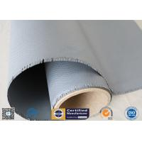 Buy cheap Gray Color Silicone Rubber Coated Fiberglass Fabric 260℃ Satin Weave 1m Wide from wholesalers