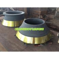 Buy cheap High Load Cone Crusher Spare Parts Concave Mantle Abrasion Resistant For Mining from wholesalers