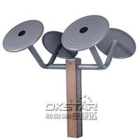 Buy cheap outdoor wooden fitness equipment--WPC Outdoor Gym Tai Chi Wheel, Arm wheel Equipment, commercial gym equipment from wholesalers