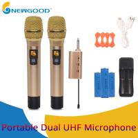 Buy cheap 2 Pieces Pair Wireless Handheld KTV Singing Microphone for Voice Amplification Presentation UHF Transmitter and Receiver from wholesalers