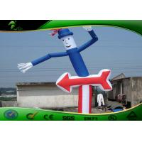 Buy cheap Custom Outdoor Inflatable Tube Man Air Dancers 20ft With Guiding Arrows from wholesalers