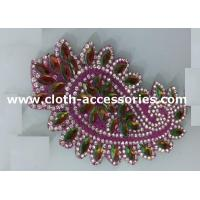Buy cheap Iron On Baby Beaded Clothing Appliques Pink , Green Rhinestone For Garments from wholesalers