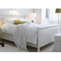 Buy cheap 100% Cotton White Percale Hotel Quality Bed Linen Fitted Sheet , Pillow Cases from wholesalers