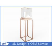 Buy cheap OEM manufacturing high end stainless steel museum pedestal display case with led spot lights product