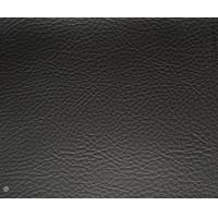 Matte Finish Black Faux Leather Upholstery Material With