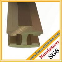 Buy cheap fine process satin brushed satinfinishing brass extrusion profiles from wholesalers