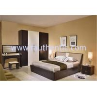 Buy cheap Simple MDF Structure Rustic Wood Frame Bed For Mens 1700 * 2180 * 870MM Size from wholesalers