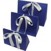 Buy cheap Simple folding apparel  Customized Gift Boxes with show window and silk ribbon from wholesalers