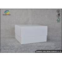 Buy cheap White Simple Design Cardboard Packaging Box For Cosmetic / Gift from wholesalers