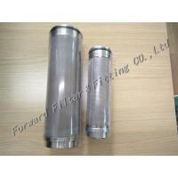 Buy cheap 2-200 Um Filter Size Industrial Filter Cartridge , Stainless Steel Filter For Industrial Process from wholesalers