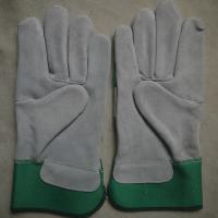 Buy cheap Cow split leather working gloves for riggers from wholesalers