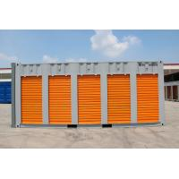 Buy cheap steel storage container,20ft storage container  with  rolling shutter five doors, customised color,China from wholesalers