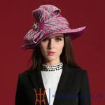 Buy cheap OEM Fashion Ribbon Band Ladies' Fedora Wool Felt Hats /Big Brim Wool Hat from wholesalers