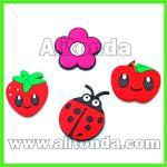 Buy cheap Custom soft pvc cartoon animal flower food fruit fridge magnet for home from wholesalers