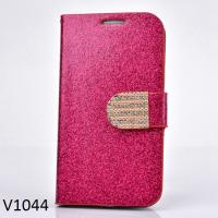 Buy cheap Bling Bling Leather Case for iPhone 5S, wonderful colors from wholesalers