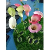 China solar energy inserts natural touch flower and plant led scalla lily solar lamp garden on sale