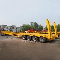 Buy cheap Folding gooseneck lowboy trailers detachable gooseneck trailer gooseneck low bed semi trailer for sale from wholesalers