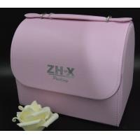 Buy cheap White / Pink / Green Pu Jewellery Box Plastic Inside Material With Mirror from wholesalers