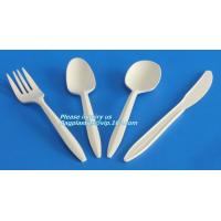 Buy cheap 5.5 inch BPA FREE Spork Biodegradable Plastic PLA Fork Spoon Combination Corn Starch Compostable Disposable bagplastics from wholesalers