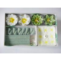 Buy cheap Fragrance Scented Flower Tealight Candle And Incense Gift Sets product