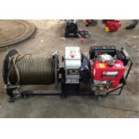 Buy cheap 3 Ton Cable Drum Diesel Cable Winch Puller With 200 Meters Wire Rope from wholesalers