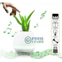 Buy cheap Smart Music Flower Pot Play Piano Bluetooth Speaker LED Flowerpot from wholesalers