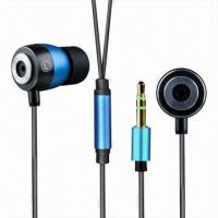 Buy cheap Noise-cancelling Metal In-ear Earphones for iPhone and Mobile Phones, with 3.5mm Plug from wholesalers