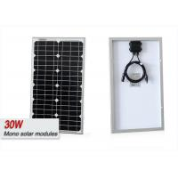Buy cheap 30 Watt Photovoltaic Mono RV Solar Panels With Junction Box MC4 Connector from wholesalers