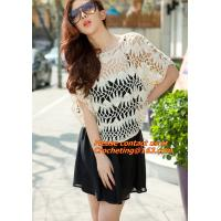 Buy cheap Crocheted, loose Crochet knitted blouse wears batwing hollow pullover sweaters top, hollow from wholesalers