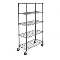 Buy cheap Chrome Plated Metal Shelving Unit With Wheels 4'' For Bedroom Display from wholesalers