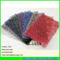 Buy cheap LDTM-047 new design pure color table mat hand woven rectangulr paper straw placemats from wholesalers