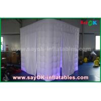 Buy cheap 210D Oxford Two Doors Led Inflatable Photo booth 2.5m X 2.5m X 2.5m from wholesalers