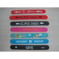 Buy cheap silicone slap snap wristband bracelet with soft silicone costing ,silicone bracelet product