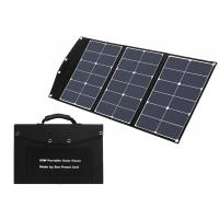 China USB 3A Black 0.55 Inch Foldable Solar Panel For Camping on sale