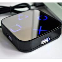 Buy cheap Mirror 4 port USB HUB with Light LOGO from wholesalers