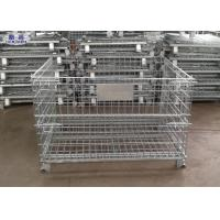 Buy cheap Steel Wire Mesh Pallet Cages Storage Box 5.8mm / 6.0mm Wire Diameter from wholesalers