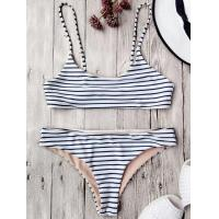 Quality Wholesale and Retail 2017 Women Sexy Striped Bandeau Halter Swimsuit for sale