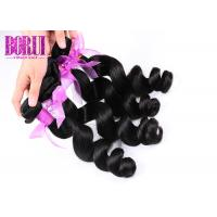 Buy cheap Mink Indian Human Hair Extensions Loose Wave Thick Ends Dyed Bleached Soft from wholesalers